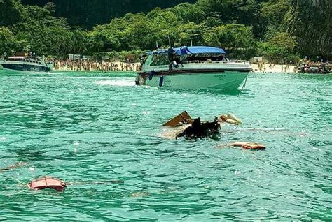 speedboot unfall thailand zwei boote prallen in der maya bucht aufeinander thailand