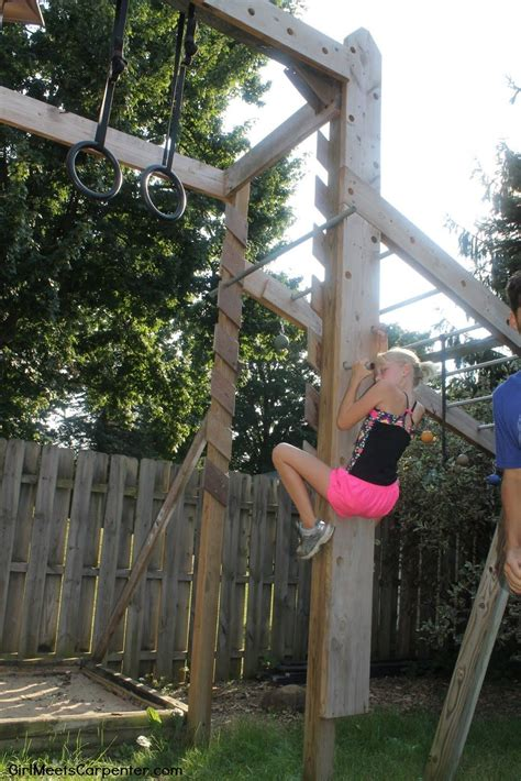 diy peg wall for and adults backyard obstacle