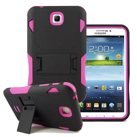 Samsung Tab 3 7 rugged box stand cover for samsung galaxy tab 3 7 0 7 inch t210 p3200 p3210