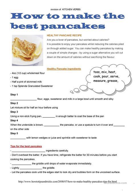 printable pancake recipes 18 free esl pancake worksheets