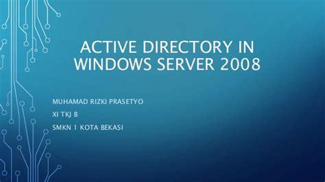 Instalasi Dan Konfigurasi Active Directory Di Windows | instalasi dan konfigurasi active directory di windows