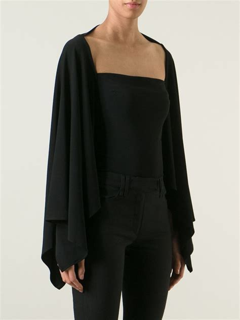 Blouse Batwing plein sud batwing sleeve blouse in black lyst