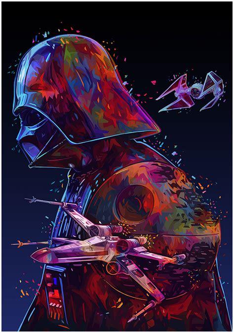 imagenes retro de star wars star wars tribute vol 2 on behance