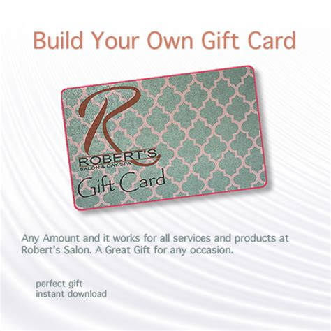 Design Your Own Gift Cards - robert s salon products a stylist s best friend