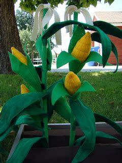 How To Make Corn Stalks Out Of Paper - cupkateer felt corn stalks
