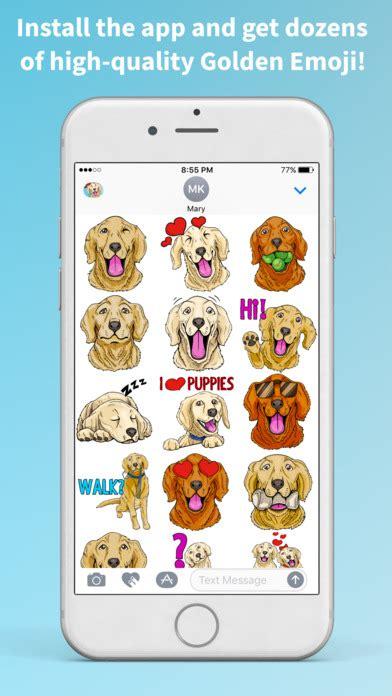 golden retriever emoji app shopper goldenemoji golden retriever emoji stickers entertainment
