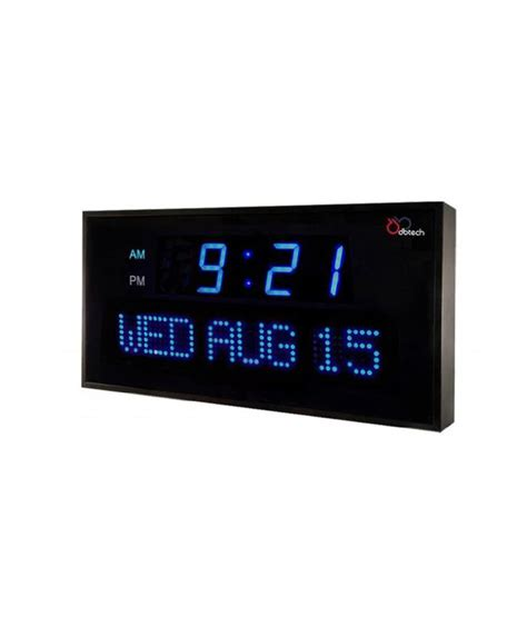 ivation clock ivation big digital led calendar clock with day and date