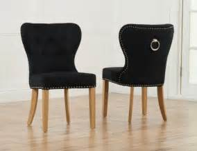 Black Upholstered Dining Chair Sudbury Black Velvet Upholstered Dining Chairs