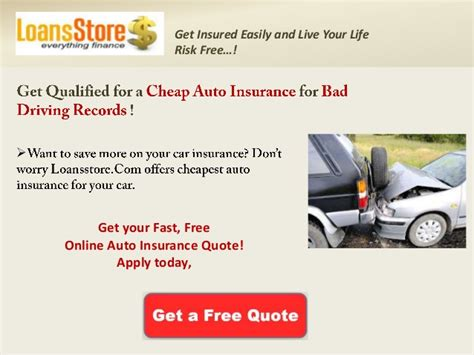 Get Cheap Auto Insurance For Bad Driving Records, Best