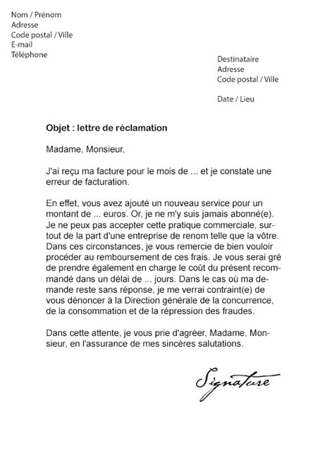 Exemple Lettre Procuration Orange Lettre De R 233 Clamation Orange Mod 232 Le De Lettre