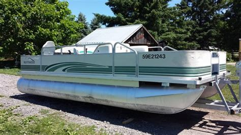 pontoon boats for sale used ontario northwood 20 pontoon 1997 used boat for sale in thomasburg