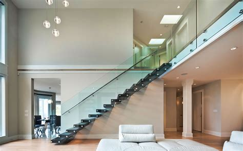 Home Design Ideas Curtains Glass Stair Railings System Railing Stairs And Kitchen