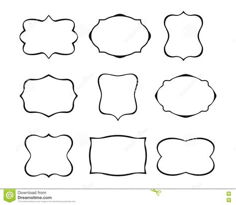 Fancy Card Shape Template by Label Shapes Vector Www Pixshark Images Galleries