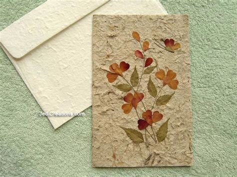 Handmade Paper Cards - wholesale greeting cards with pressed flowers jedicreations