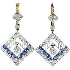 Chopard 827 Blue cartier an exquisite pair of epoque platinum and