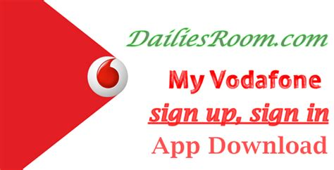 vodafone mobile account login vodafone sign up sign in my vodafone app