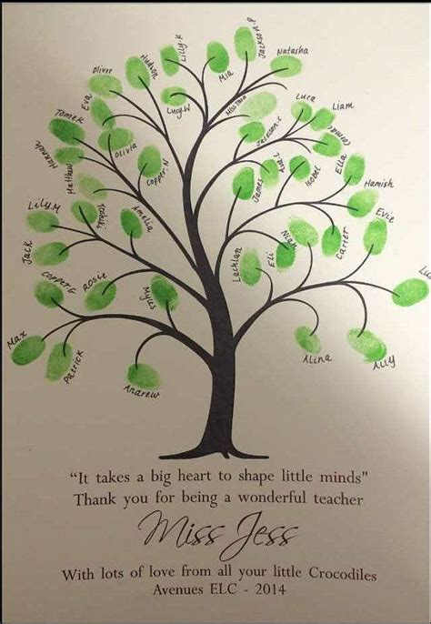 fingerprint tree card template 12 best images about leaving card on trees