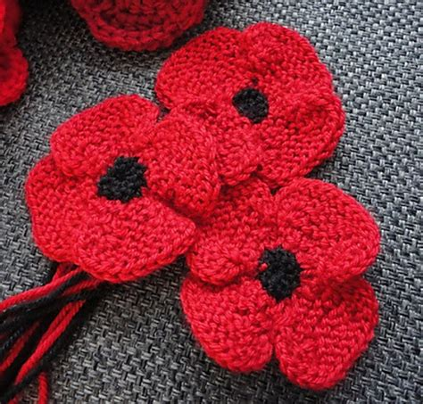 youtube poppy pattern leaves and stems for knitted poppies