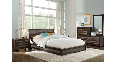 harmony bedroom set harmony place brown 6 pc king platform bedroom contemporary