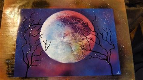 spray painting sky how to spray paint purple sky