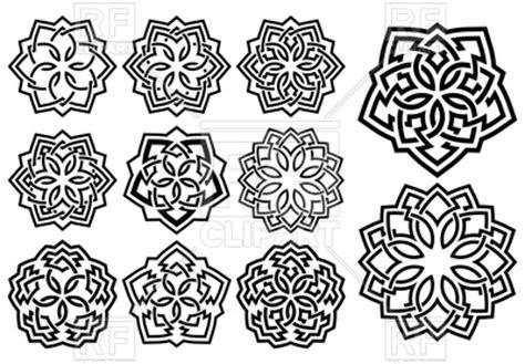 set of arabesque pattern frame border set of ornamental patterns in arabesque style royalty free
