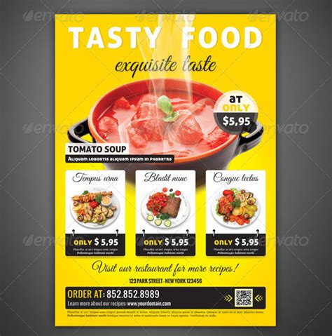 flyers design templates for restaurant restaurant flyer templates 65 free word pdf psd eps