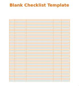 Blank Checklist Template Pdf by Blank Checklist Template 37 Free Psd Vector Eps Ai