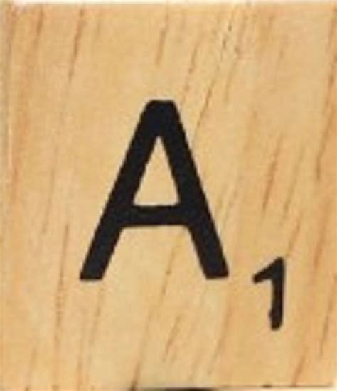Individual Wood Scrabble Tiles 8 For 2 Or 25 Cents Per