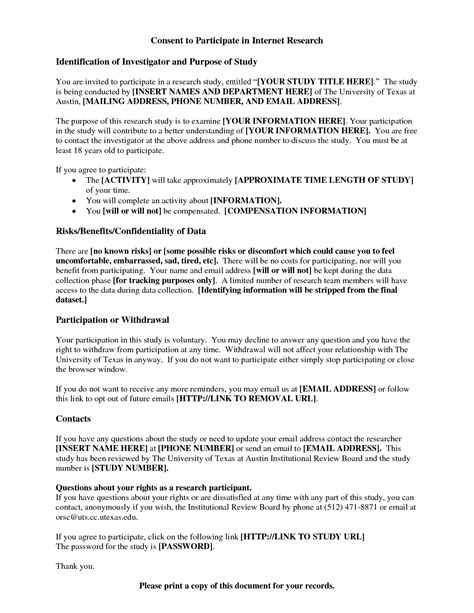 Cover Letter Research Questionnaire best photos of permission letter authorization