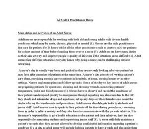 Social Model Of Health Essay by Health And Social Care A2 Unit 2 Practitioner Roles Comparing A And A A