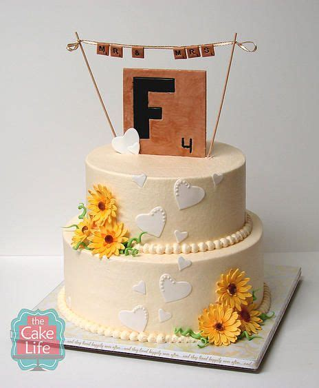 scrabble wedding cake scrabble cake for wedding shower cake ideas