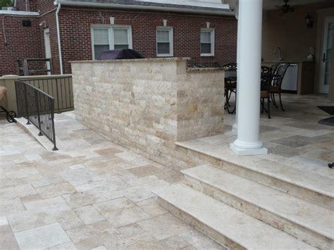 Travertine Porch Tile