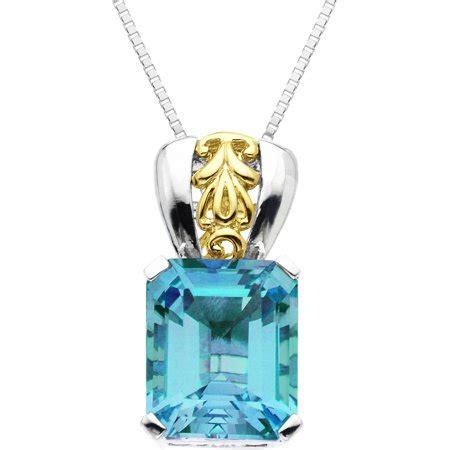 Blue Topaz 6 45 Carat duet 7 45 carat t g w blue topaz 10kt yellow gold and