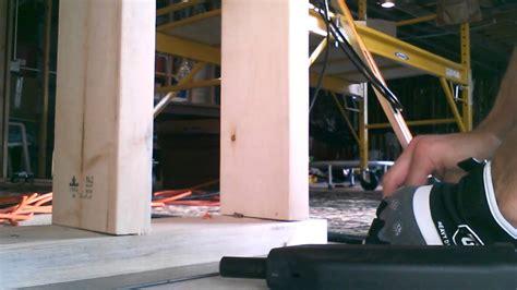nailing studs into basement concrete