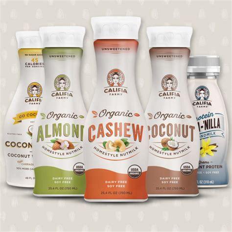 protein nut milk califia farms wades into organic with new nut milk line