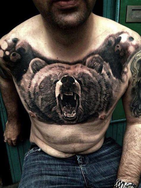 Chest Tattoo Bear | pinterest the world s catalog of ideas