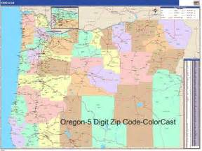 oregon zip code map from onlyglobes
