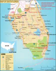 south florida map showing cities map of south florida south florida map