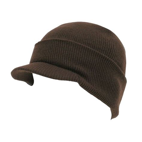 knit caps brown visor beanie knit jeep cap skull ski caps hat ebay
