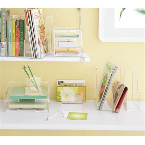 Magazine Sorter The Container Store Lucite Desk Accessories