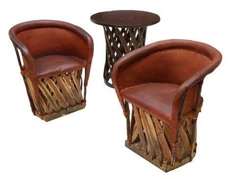 3 equipale pigskin chairs table spectacular