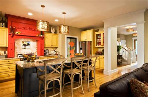 Decorating Ideas For Kitchen With Yellow Walls Ambiance Accueillante Et Conviviale Dans Une Cuisine Jaune