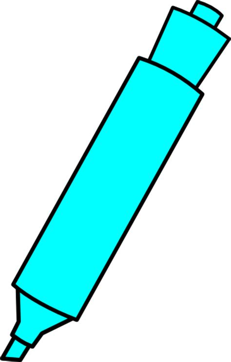 marker clipart blue highlighter marker clip at clker vector