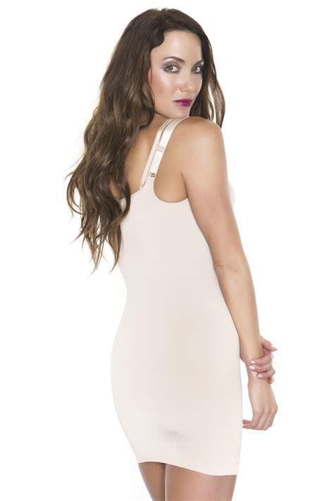 Slimming Seamless black fuchsia seamless plus size slimming wear your own bra slip shapewear ebay