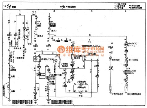 toyota coaster carriage interior light circuit wiring