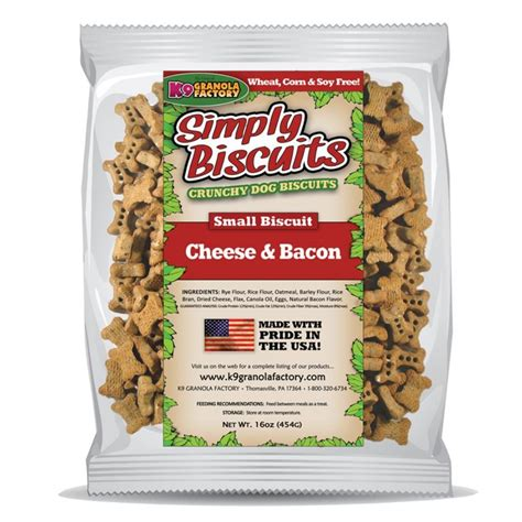 bacon treats k9 granola factory simply biscuits cheese bacon treats small