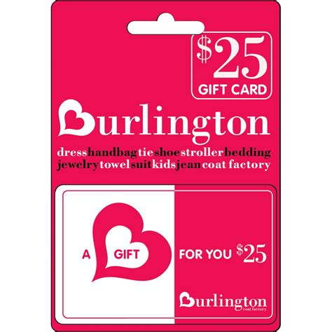 Burlington Gift Card - burlington coat factory gift card shoes apparel gifts food shop the exchange