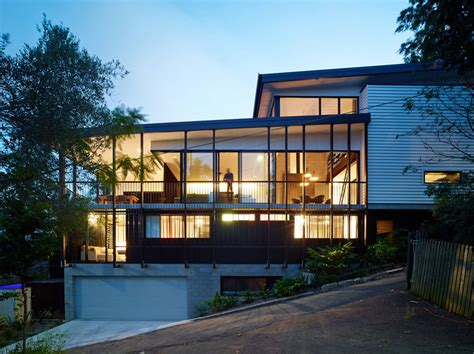 house on slope creative design solutions implemented in modern house on a