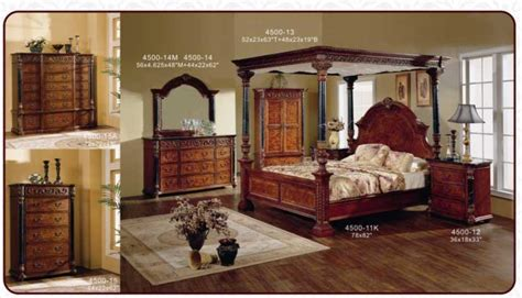 wood canopy bedroom sets classical antique wooden canopy bedroom sets king bed product