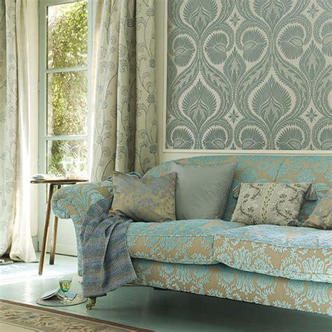 green wallpaper living room modern wallpaper combining pattern in blue green living